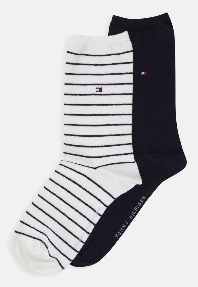 WOMEN SOCK SMALL STRIPE 2 PACK - Socks - off-white