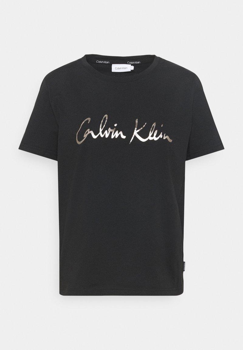 Calvin Klein - REGULAR SIGNATURE TEE - T-shirts med print - black