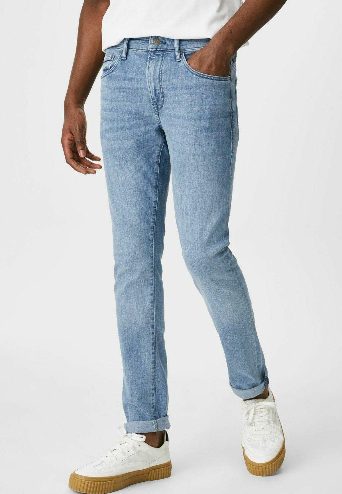 Herren Jeans Skinny Fit - denim-light blue