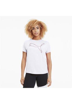 KVINNA - Print T-shirt - white-rose gold prt
