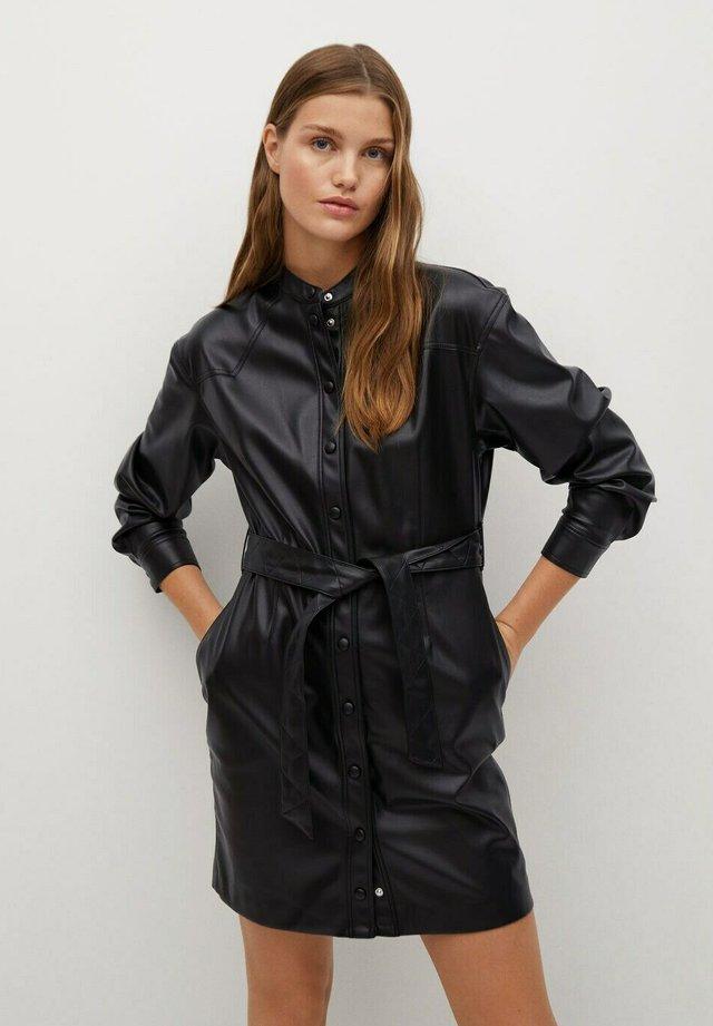 ELIA - Robe chemise - svart