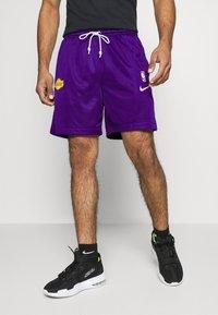 Nike Performance - LAKERS STANDARD ISSUE - Sports shorts - field purple/black amarillo/white - 0