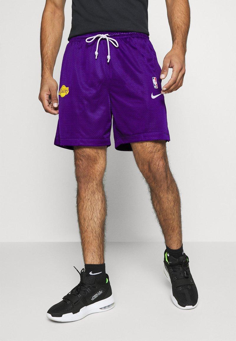 Nike Performance - LAKERS STANDARD ISSUE - Sports shorts - field purple/black amarillo/white