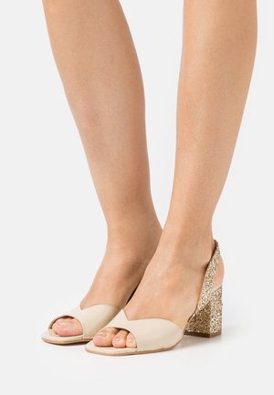 VOGUE - Sandales - glitter beige/platine