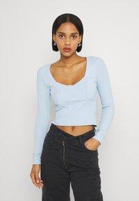 Monki - Maglietta a manica lunga - blue light - 0