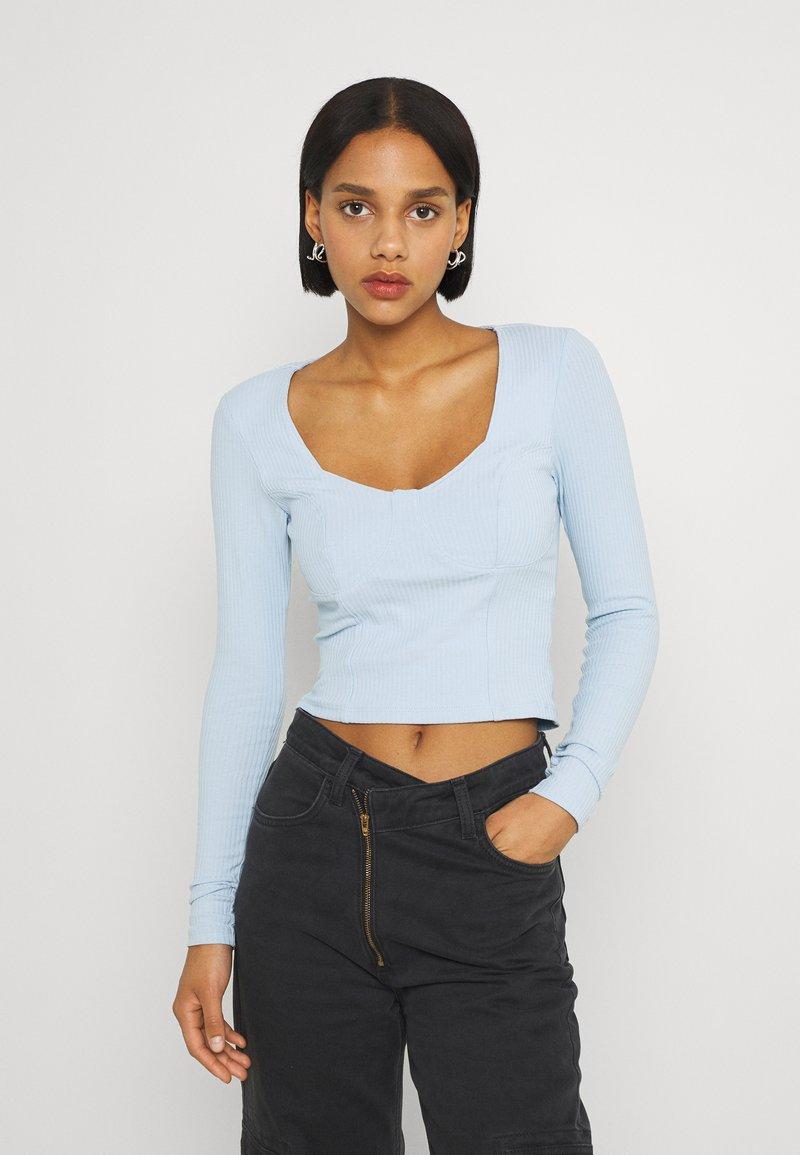 Monki - Maglietta a manica lunga - blue light