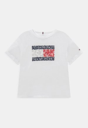 FLOWER FLAG TEE - T-shirt con stampa - white