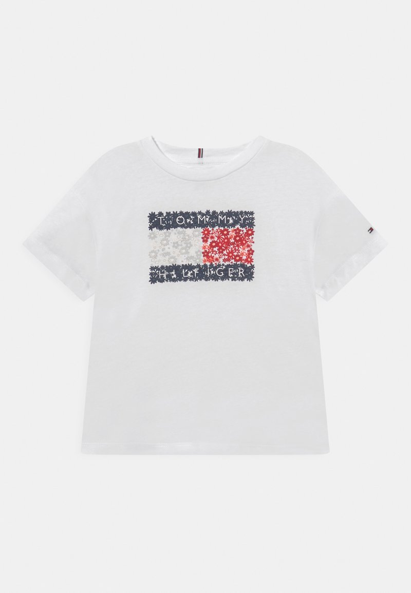Tommy Hilfiger - FLOWER FLAG TEE - Print T-shirt - white