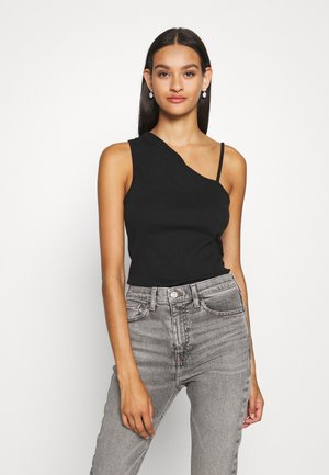 ASYMMETRICAL TANK - Top - black