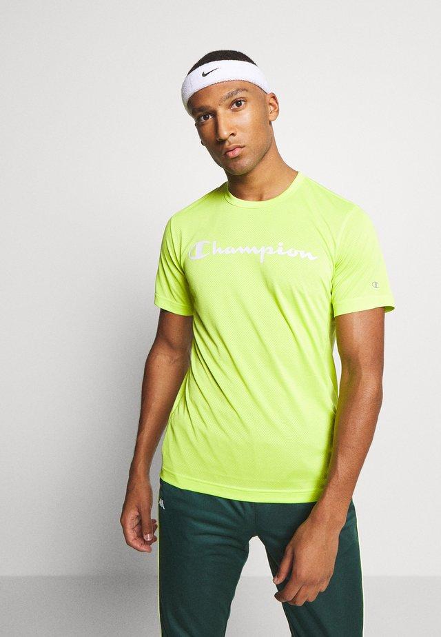 LEGACY TRAINING CREWNECK - T-shirt z nadrukiem - neon green