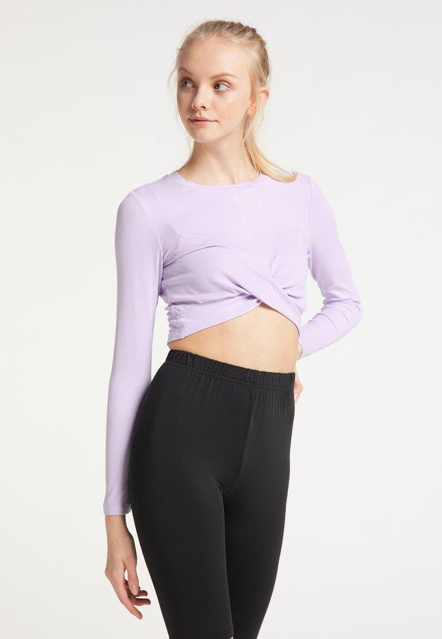 Camiseta de manga larga - lila