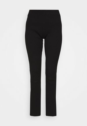 LONG LINES FLARE - Spodnie materiałowe - black