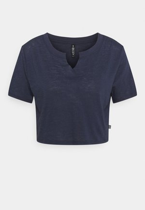 ALL THINGS FABULOUS CROPPED TEE - Print T-shirt - navy