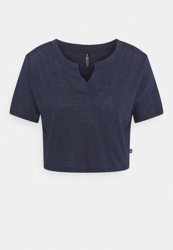 ALL THINGS FABULOUS CROPPED TEE - T-shirts med print - navy