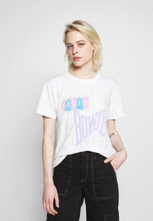 DAVID BOWIE JOY TEE - Print T-shirt - natural white