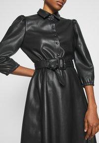 Vila - VIDARAS 3/4 DRESS - Košilové šaty - black - 6