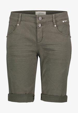 Denim shorts - dunkelgrün