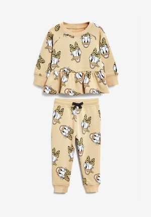 DISNEY DAISY DUCK SWEAT TOP AND JOGGERS SET - Sweatshirts - light brown