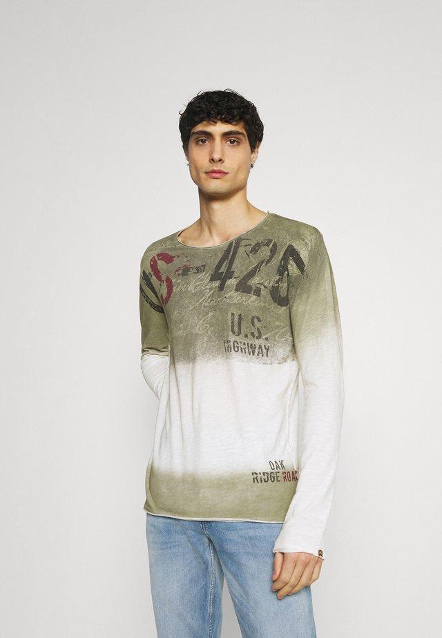 CHALLENGER ROUND - Maglietta a manica lunga - khaki