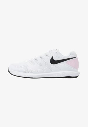 NIKECOURT AIR ZOOM VAPOR X - Tenisové boty na všechny povrchy - white/black/pink foam