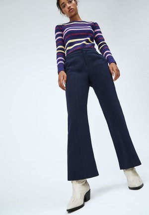 Teplákové kalhoty - dunkel ozaen blau