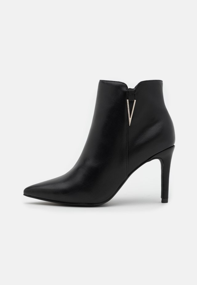 High heeled ankle boots - soft nero