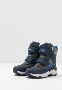 Geox - SENTIERO BOY WPF - Winter boots - navy/royal - 3