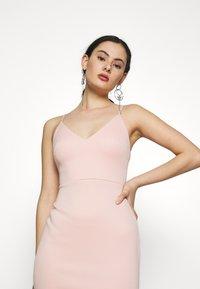 Miss Selfridge - PEPLUM MIDI DRESS - Cocktail dress / Party dress - blush - 3
