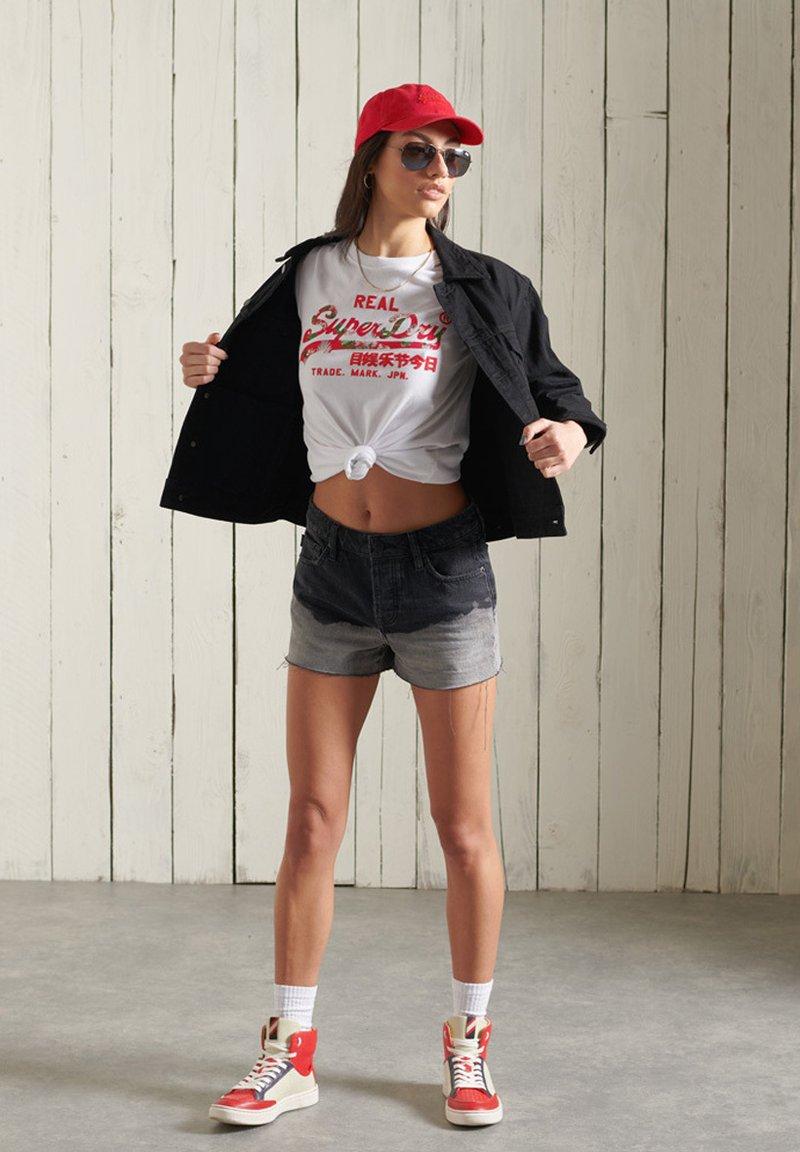 Superdry - VINTAGE LOGO - Print T-shirt - white
