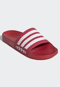 adidas Performance - SHOWER ADILETTE - Chanclas de baño - red - 2