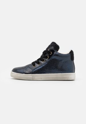 High-top trainers - dark blue