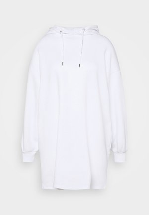 HOODIE MINI DRESS - Kjole - white
