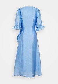 Gina Tricot - MILLY WRAP DRESS - Cocktail dress / Party dress - light blue - 1
