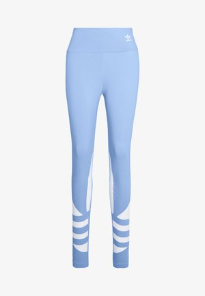 LARGE LOGO ADICOLOR LARGE LOGO TIGHT TIGHTS - Legginsy - clear sky/white