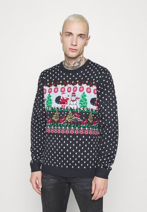 ONSXMAS FUNNY CREW NECK - Jumper - dark navy