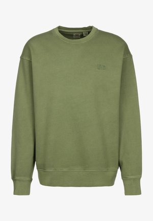 AUTHENTIC LOGO CREWNECK - Sweatshirt - hedge green