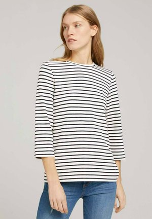 7/8 ARM  - Long sleeved top - offwhite navy stripe