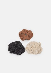 Pieces - PCNAIDA 3-PACK  - Hair styling accessory - black/dot-brown-cdan - 0