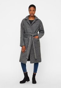 Noisy May - NMZOE  WOOLEN COAT - Classic coat - dark grey - 1