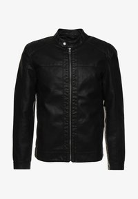 Only & Sons - ONSMIKE RACER - Faux leather jacket - black - 5