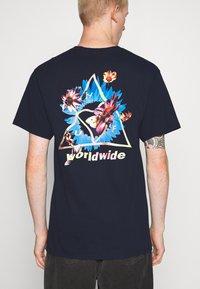 HUF - COME DOWN TEE - T-shirt print - french navy - 0