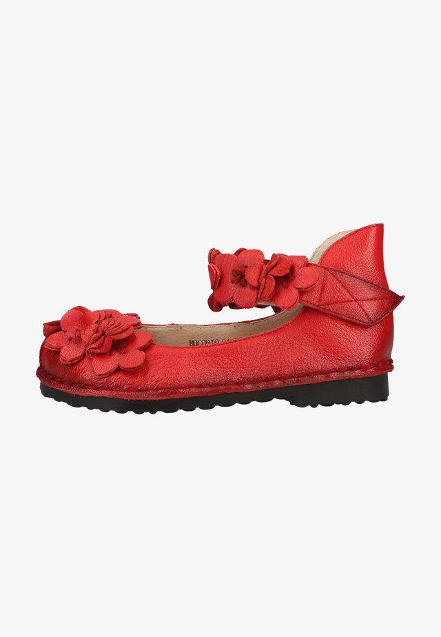 Ballerina's met enkelbandjes - rouge