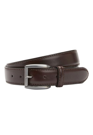 BLACK SIGNATURE ITALIAN LEATHER BELT - Belt business - brown