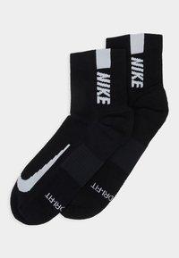 Nike Performance - ANKLE 2 PACK UNISEX - Sports socks - black/white - 0