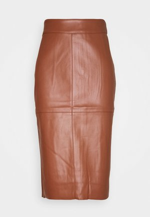 MIDI SKIRT - Pencil skirt - tan