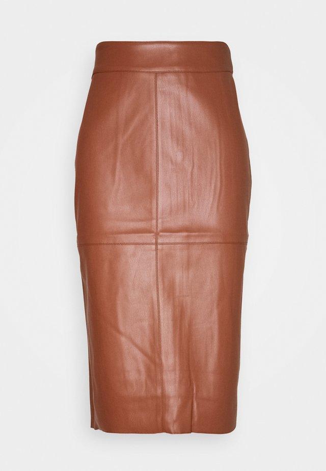 MIDI SKIRT - Pencil skirt - tan