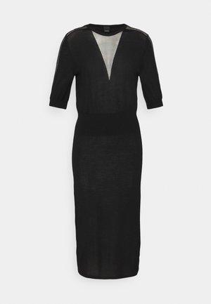 RALLY ABITO INTARSIO  - Stickad klänning - black