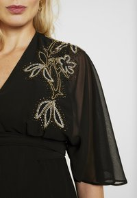 Hope & Ivy Maternity - BEADED WRAP KIMONO DRESS - Day dress - black - 5