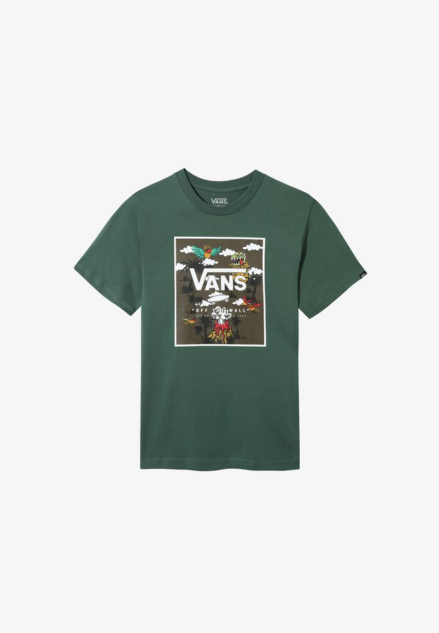 BY PRINT BOX  - T-shirt med print - pine needle-dineapple floral
