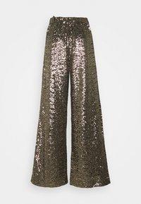 Banana Republic - EWAIST WIDE LEG CLUSTER SEQUIN - Trousers - bold bronze - 1